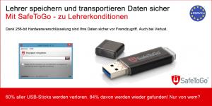 Hardwareverschlüsselter USB Stick DSGVO Konform